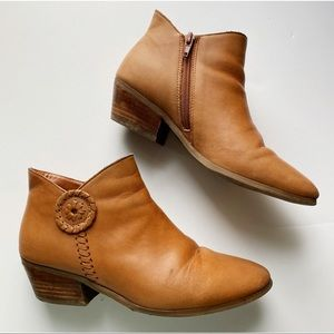 Jack Rogers • Tan Leather Peyton Ankle Booties